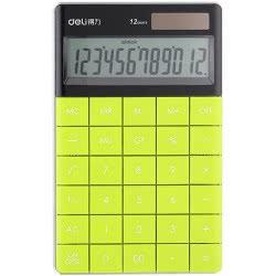 DELI Αριθμομηχανή 12 Ψηφίων 16,53x10,32x1,47cm - Πράσινο 231.1589g 6921734915894