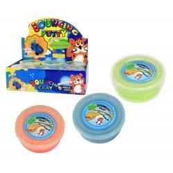 Gama Brands Βαζάκι Χλαπάτσα Bouncing Putty Φωτίζει Στο Σκοτάδι - 3 Χρώματα 10104156 4260059594363