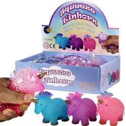 Fun Trading Squishy Squeezy Einhorn Unicorn Figure - 3 Colours 10104766 4260059599689