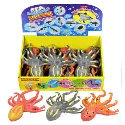 Gama Brands Squishy Squeezy Sea Animals Squid - 3 Colours 10104726 4260059599139
