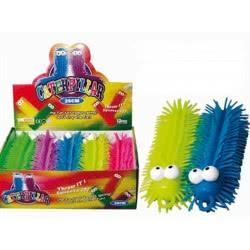 Fun Trading Squishy Squeezy Κάμπια Caterpillar 25 Εκ Με Φως - 5 Χρώματα 10104787 4260059599955