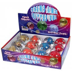 Fun Trading Cosmic Swirl Glitter Ball Fishes With Light - 4 Colours 10104330 4260059596060