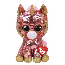 ty Beanie Boos Flippables Χνουδωτό Sequin Μονόκερος Κοραλί 23 Εκ. 1607-36782 008421367825