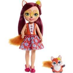 Mattel Enchantimals Μεγάλη Κούκλα - Felicity Fox με Flick FRH51 / FRH53 887961625783