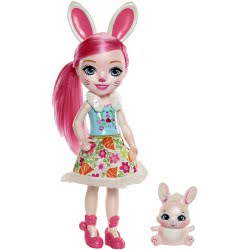 Mattel Enchantimals Μεγάλη Κούκλα - Bree Bunny με Twist FRH51 / FRH52 887961625776