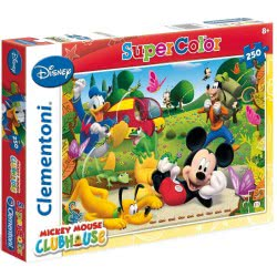 Clementoni Παζλ 250Τεμ Super Color Disney Μickey Mouse Clubhouse 1210-29699 8005125296996