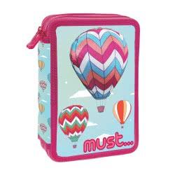 MUST 3D Pencil Case Full Balloon Pink 15x5x21 cm 000579649 5205698434082