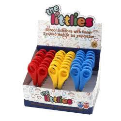 Diakakis imports The Littlies Scissor with Ruller 13 cm - 3 Colours 000646091 5205698245336