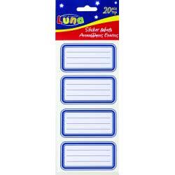 LUNA OFFICE Ετικέτες Μπλε 20 Τεμάχια 5 Φύλλα 000620550 5205698228544