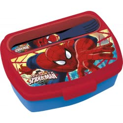 Diakakis imports Ultimate Spiderman Lunch Box With Fork And Knife 500908 5205698433283