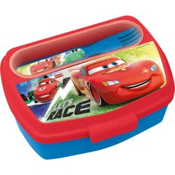 Diakakis imports Cars Lunch Box With Fork And Knife Let Us Race 22709 000562293 5205698433207