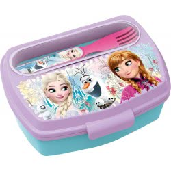 Diakakis imports Disney Frozen Lunch Box With Fork And Knife 86809 000562294 5205698433221
