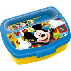 Diakakis imports Mickey Mouse Lunch Box With Fork And Knife 19009 000562295 5205698433245