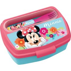 Diakakis imports Minnie Mouse Lunch Box With Fork And Knife 14509 000562296 5205698433269