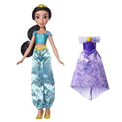 Hasbro Disney Princess Enchanted Evening Styles Κούκλα Γιασμίν με 2 Φορέματα E4589 / E4674 5010993555727