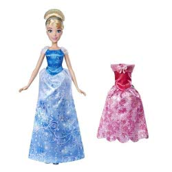 Hasbro Disney Princess Summer Day Styles, Σταχτοπούτα Κούκλα Με 2 Φορέματα E4589 / E4807 5010993555734
