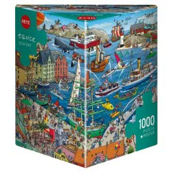 HEYE Παζλ 1000 τεμ (Τρίγωνο Κουτί) Tanck - Λιμάνι 29729 4001689297299