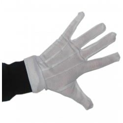 maskarata White Gloves with Sewing 20 cm ΑΞ030056-Α 5200304405692