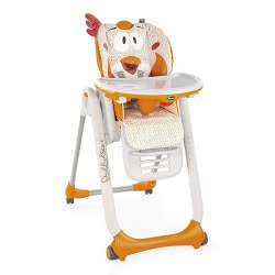 Chicco High Chair Polly 2 Start Fancy Chicken 96 - Orange P04-79205-96 8058664080663