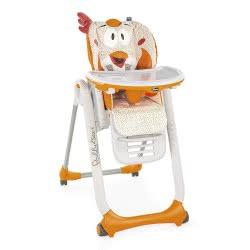 Chicco Κάθισμα Φαγητού Polly 2 Start Fancy Chicken 96 - Πορτοκαλί P04-79205-96 8058664080663