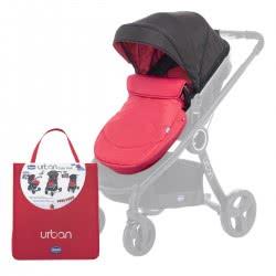 Chicco Σετ Υφάσματα και Κουκούλα για Καρότσι Urban - Red Passion O90-79168-64 8058664077250