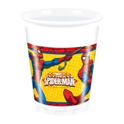 PROCOS Marvel Ultimate Spiderman Plastic Cups 200 Ml 8 Pieces 086670 5201184866702