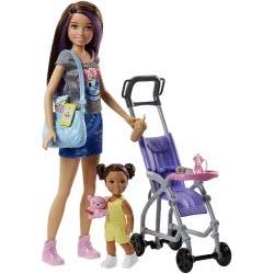 Mattel Barbie Σκίπερ Babysitter - Βόλτα Με Το Μωρό FJB00 887961531480