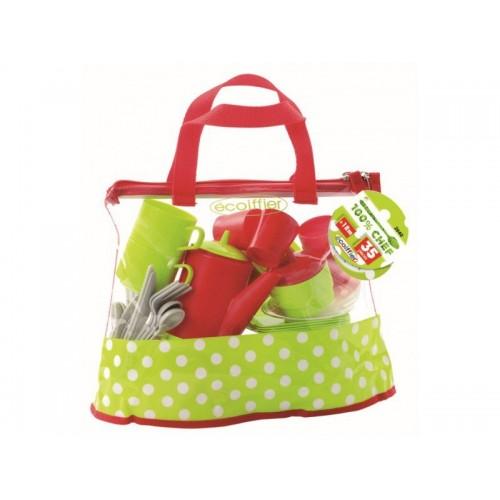 ecoiffier Dining set bag 2640 3280250026402