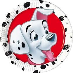 PROCOS 101 Dalmatian Dogs Paper Plates 20cm - 8pieces 081017 5201184810170