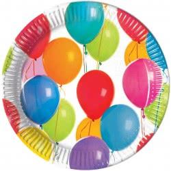 PROCOS Colorful Balloons Large Paper Plates 23cm - 8 pieces 091016 5201184910160