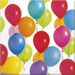 PROCOS Colorful Balloons Napkins 33x33 cm - 16 pieces 091018 5201184910184