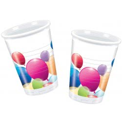 PROCOS Colorful Balloons Party Glasses - 8 Pieces 091019 5201184910191