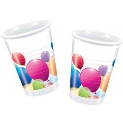 PROCOS Ποτήρια Πλαστικά Πολύχρωμα Μπαλόνια - 8 τμχ 091019 5201184910191