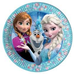 PROCOS Disney Frozen Classic Paper Plates Medium 20 cm. - 8 Pieces 091021 5201184910214