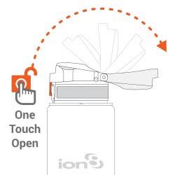 ion8 Water Bottle Slim Leak Proof 500 ml - Blue ΙΟΝ85-00FΒLUQ 619098080544