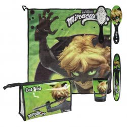 Loly Miraculous Ladybug Νεσεσέρ Ταξιδιού Cat Noir - Πράσινο 2500000807 8427934993512