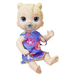 Hasbro Baby Alive Lil Sweet Sounds Blonde Διαδραστική Ξανθιά Κούκλα E3690 5010993553020