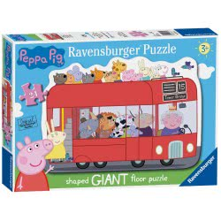 Ravensburger 24 pcs Floor Puzzle Peppa Pig Bus 05530 4005556055302