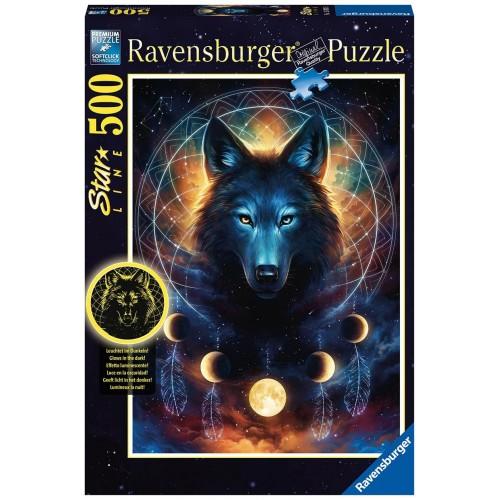 Ravensburger Παζλ Ενηλίκων 500 τεμ. Λύκος - Starline 13970 4005556139705