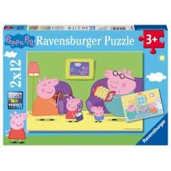 Ravensburger Παζλ 2x12 τεμ. Πέππα το Γουρουνάκι 7596 4005556075966
