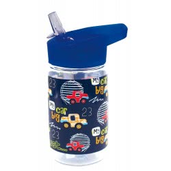 MUST Plastic Water Canteen with Straw 450 ml - 4 Designs 000579670 5205698441394