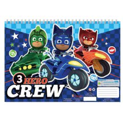 Diakakis imports PJ Masks Painting Blog 23x33 cm, 40 Sheets with Stickers - 2 Designs 000484146 5205698421099