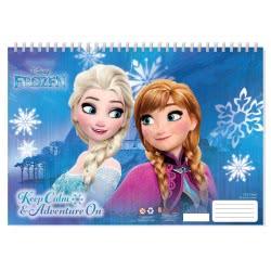 Diakakis imports Disney Frozen Μπλοκ Ζωγραφικής 40 Φύλλα με Αυτοκόλλητα - 2 Σχέδια 000562228 5205698420832