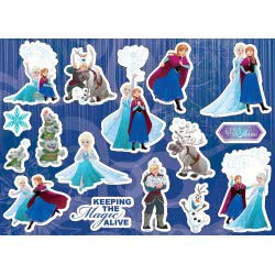 Diakakis imports Disney Frozen Painting Blog 40 Sheets with Stickers - 2 Designs 000562228 5205698420832