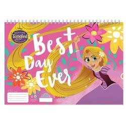 Diakakis imports Rapunzel Tangled Μπλοκ Ζωγραφικής 40 Φύλλα με Αυτοκόλλητα - 2 Σχέδια 000562347 5205698447693
